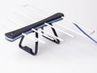 Антеннa комнатная активная ДМВ (логопериодическая) для цифрового ТВ, ЁЛКА (Черно - Голубая), блистерная упаковка