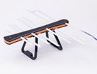 Антеннa комнатная активная ДМВ (логопериодическая) для цифрового ТВ, ЁЛКА (Черно - Оранжевая), блистерная упаковка