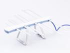 Антеннa комнатная активная ДМВ (логопериодическая) для цифрового ТВ, ЁЛКА (Серо - Голубая), блистерная упаковка