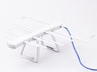 Антеннa комнатная пассивная ДМВ (логопериодическая) для цифрового ТВ, ЁЛКА (Серо - Серая), блистерная упаковка