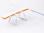 Антеннa комнатная активная ДМВ (логопериодическая) для цифрового ТВ, ЁЛКА (Бело - Оранжевая), блистерная упаковка
