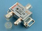 Сумматор ТВ 2 входа (F-гнездо) - 1 выход (F-гнездо) 5-1000МГц (1проход питания)