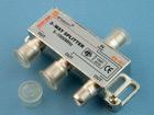 Делитель ТВ 1 вход (F-гнездо) - 3 выхода (F-гнезда) 5-1000МГц (с проходом по питанию на один порт)