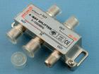 Делитель ТВ 1 вход (F-гнездо) - 4 выхода (F-гнезда) 5-1000МГц (с проходом по питанию на один порт)