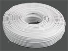 Телефонный кабель 2-х жил. плоский (7x0.1) 100м/бухте белый 2.3x4.8мм
