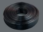 Телефонный кабель 4-х жил.плоский (7x0.1) 100м/бухте, черный 2.4x4.8мм