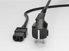 Шнур AC питания компьютерный 3х0.75кв.мм, 1.5м (вилка 2х4.8мм с заземлением) (ПВХ-Упаковка)