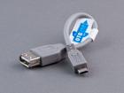 Шнур USB-A гнездо - USB-микро(micro) B штекер 0.15 м OTG (в ПЭ упаковке)