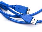 Шнур USB-A штекер - USB-микро(micro) B штекер, 1.5м, USB 3.0, с ферритовыми фильтрами, OD4.5мм (в ПВХ упаковке)