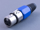 XLR 3P гнездо микрофонное, на кабель (пластик-никель)