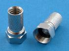 F-штекер для ТВ кабеля RG6U с защитой от влаги (медь-никель)