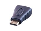 HDMI mini штекер - HDMI гнездо (пластик-золото)