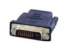 DVI-D (24+1) штекер - HDMI гнездо (пластик-золото)