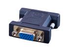 DVI-D штекер - VGA (15pin) гнездо (пластик-никель-золото)