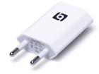 USB-А адаптер (гнездо 1А) в АС сеть 220В (2*4.0мм вилка), белый