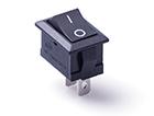 Перекидной электро переключатель (ON-OFF), Черный, 2 контакта, 250V, 6A