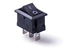 Перекидной электро переключатель (ON-ON), Черный, 3 контакта, 250V, 6A