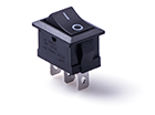 Перекидной электро переключатель (ON-ON), Черный, 3 контакта, 250V, 3A