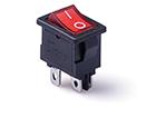 Перекидной электро переключатель (ON-OFF), Черно-красный, 4 контакта, 250V, 6A, с подсветкой
