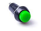 Кнопка нажимная зеленая (ON-OFF) без фиксации, 250V, 1A
