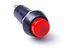 Кнопка нажимная красная (ON-OFF) без фиксации, 250V, 1A