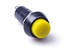 Кнопка нажимная желтая (ON-OFF) без фиксации, 250V, 1A