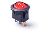 Перекидной электро переключатель (ON-OFF), Красный, 3 контакта, 250V, 6.5A, подсветка (бытов.)