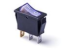 Переключатель клавишный 14мм RWB-403B (ON-OFF) 250V/15A, синий