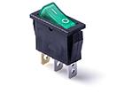 Переключатель клавишный 14мм RWB-403G (ON-OFF) 250V/15A, зеленый